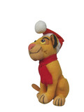 plush christmas toy with clipping path included  poster