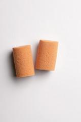 earplugs isolated on white background
