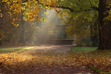 Herbst in Dresden - Mosaikbrunnen