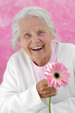 Laughing Great Grandmother poster