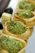 roleta: Vegetable pastry canapes