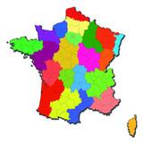 La France administrative poster