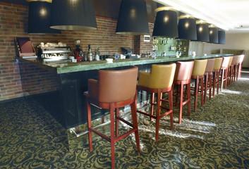 Cozy bar in modern hotel