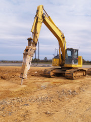 heavy duty equipment at construction site