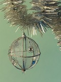 Christmas tree with silvery ball poster