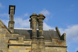 chimney stacks on a gable ended roof