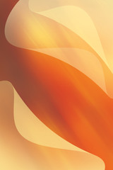 orange waved background