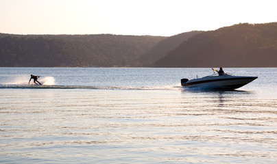 sunset waterski speed boat