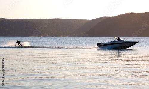 sunset waterski speed boat - 5188580
