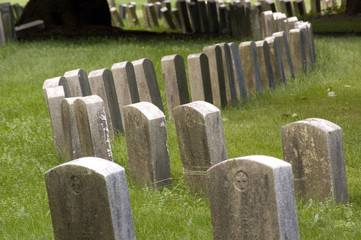 Curved Headstones
