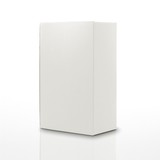 blank carton box isolated on a white background poster
