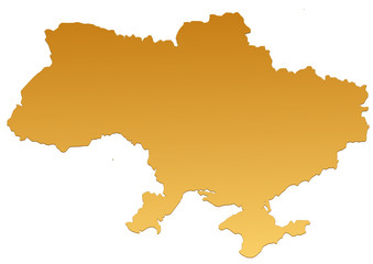 Carte de l'Ukraine marron