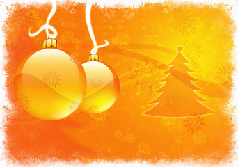 Natale decorazioni oro