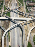 Aerial View of Highway poster