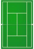 Terrain de tennis sur surface dure poster