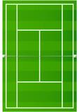 Terrain de tennis sur gazon poster