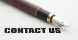 contact us with fountain pen poster