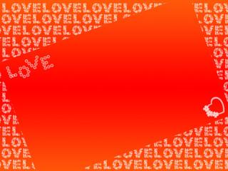 Liebesbotschaft - rot, orange, weiß