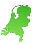 Carte des Pays-Bas verte poster