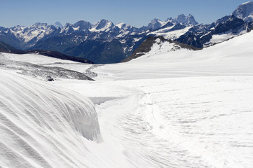 Ice field near Elbrus