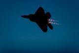 F-22 Raptor fighter jet silhouette poster