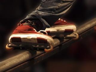 Balanced roller skating