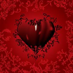 Red - black Hearth