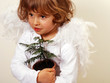 Angel with little christmas tree