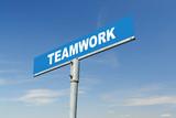 Teamwork signpost poster