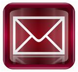postal envelope icon, isolated on white background. poster