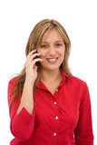 happy phone conversation poster