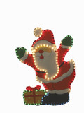 santa  with clipping path for background removing poster