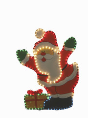 santa  with clipping path for background removing