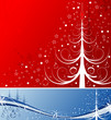 Christmas background with tree, element for design, vector
