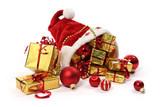 Fototapety Cadeaux de noël  isolées sur fond blanc
