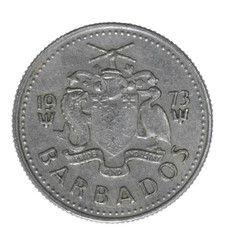 barbados coin isolated