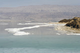 salt and islands of the Dead sea, Israel