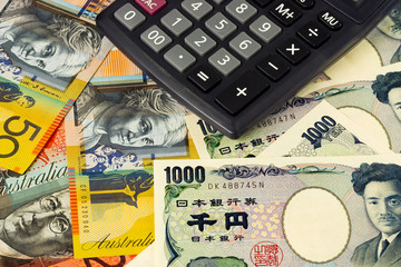 Australia and Japanese currency pair with calculator