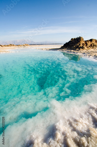 blue water of the dead sea