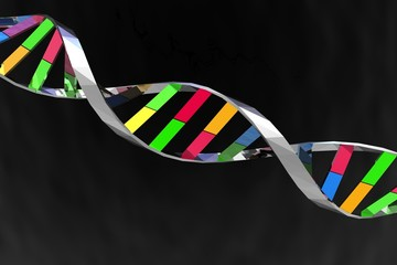 3D  render illustration of DNA string