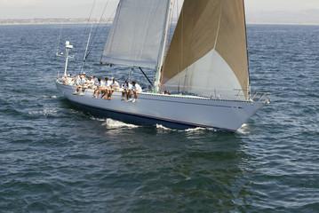 Sailing Crew on Sailing Boat