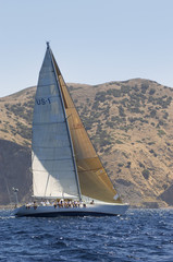 Racing Yacht During Race