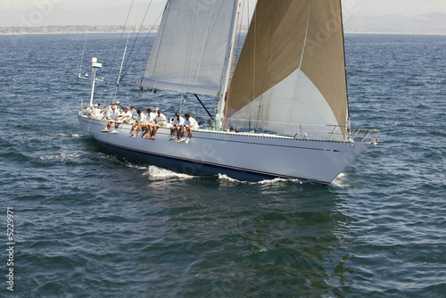 Sailing Crew on Sailing Boat