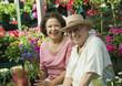 Senior Couple Shopping for Plants