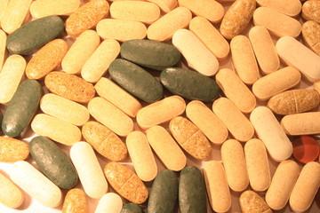 Sfondo di vitamine