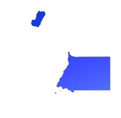 blue gradient map of Equatorial Guinea