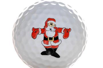 Golf Ball with Santa decoration