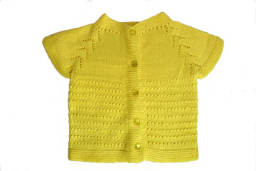 handmade yellow baby cardigan
