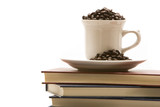 Books and coffee poster