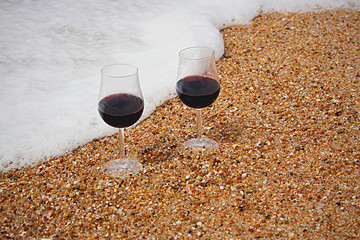 Copos de vinho apanhados
